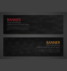 Two abstract black banners business design vector