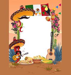 viva mexico or cinco de mayo holiday signboard vector image