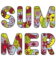 word summer painted colorful vector image