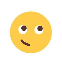 yellow smiling cartoon face emoji people emotion vector image