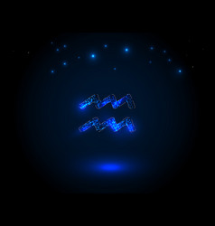 zodiac sign on the starry sky vector image