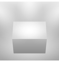 3d isolated empty podium vector image vector image