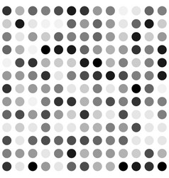 black and white dot background vector image