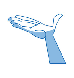 cartoon hand man open palm vector image vector image