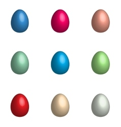 Easter background with eggs set vector image vector image