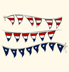 independence day pennant banners vector image