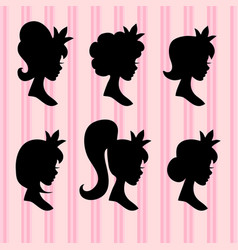 little princesses portrait young girl vector image vector image