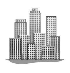 metropolisrealtor single icon in monochrome style vector image vector image