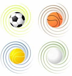 twisted sport balls vector image vector image