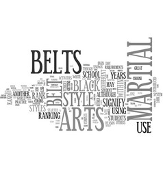 a close look at belts text word cloud concept vector image vector image