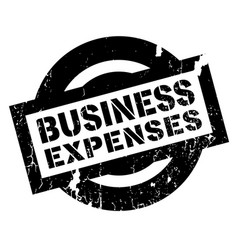 business expenses rubber stamp vector image vector image