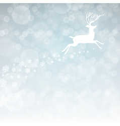 christmas deer with snowflakes vector image vector image