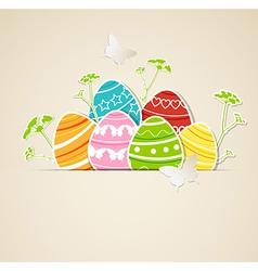 eggs green grass vector image vector image