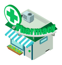 pharmacy icon isometric style vector image