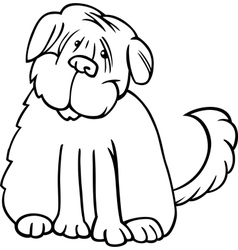 shaggy terrier cartoon for coloring vector image