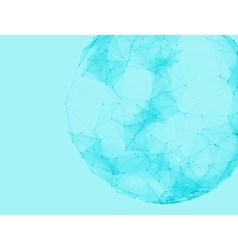 Abstract polygonal spheres Futuristic vector image vector image