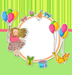 birthday doodles vector image vector image