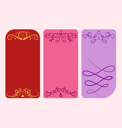 Collection of dividers cards calligraphic vector