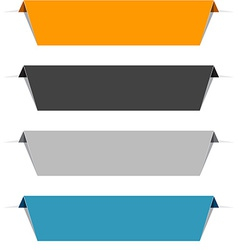 Color paper labels vector image vector image