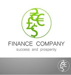 Financial company dollar euro sign logo vector