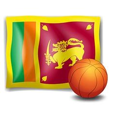 A ball with the flag of Sri Lanka vector image