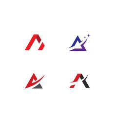 a letter logo business vector image