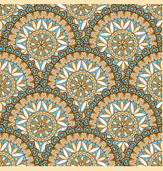 Abstract floral oriental seamless pattern vector