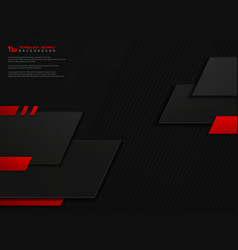 abstract technology gradient red black geometric vector image