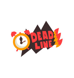 Alarm clock in a fire deadline punctuality vector