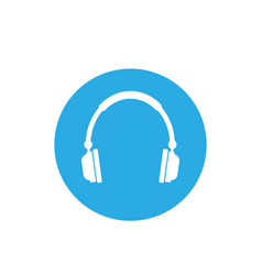 audio headphones icon flat vector image