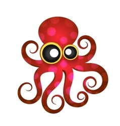 Beautiful tropical octopus vector image