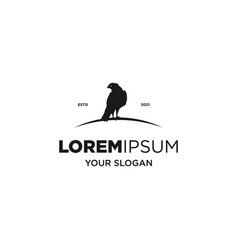 black eagle silhouette logo vector image