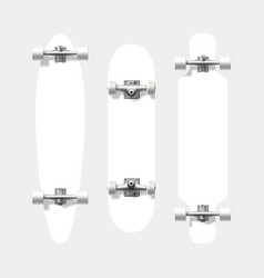 blank skateboard and longboard shapes ready for vector image
