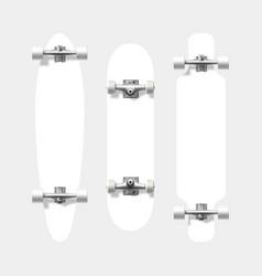 Blank skateboard and longboard shapes ready vector