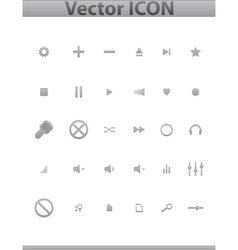 Blue Media and Entertainment Web Icons vector