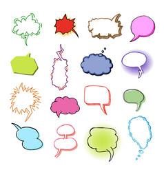 Bubbles blank speech bubbling messages vector