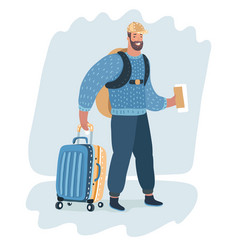 business man carrying a luggage vector image