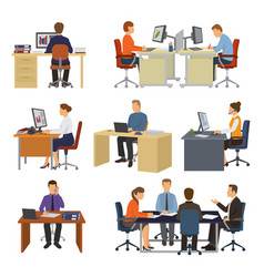 business people professional workers vector image