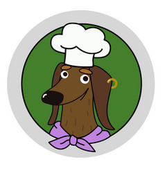 Cartoon dachshund chef mascot vector