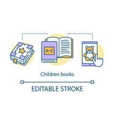 children books concept icon kids literature idea vector image