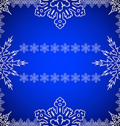 Christmas frame with snowflakes on the edges vector image