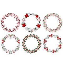 Christmas Wreath Set vector