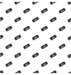 Cinema ticket pattern simple style vector image