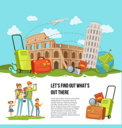 concept italian sights vector image