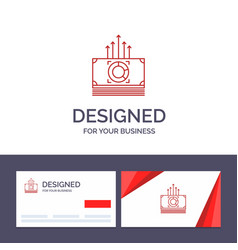 Creative business card and logo template money vector