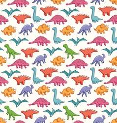 Cute dinosaurs pattern vector image
