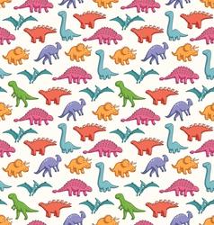 Cute dinosaurs pattern vector