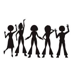 disco people cartoon vector image