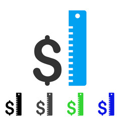 dollar rate flat icon vector image