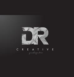 Dr d r letter logo with zebra lines texture vector